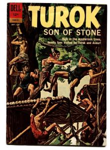 TUROK SON OF STONE #29 comic book-DELL-1957-DINSOSAUR COVER AND STORIES