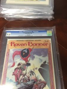 Marvel Graphic Novel 15 Raven Banner Cgc 9.8