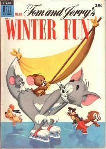 TOM & JERRY WINTER FUN 3 VG-F  1954 COMICS BOOK