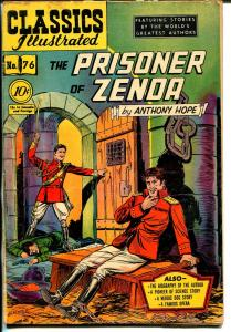 Classics Illustrated #76 HRN 75 1950-Gilberton-Prisoner of Zenda-1st ed.-VG+