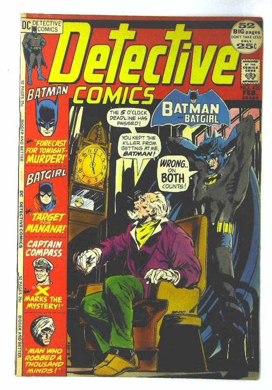 Detective Comics (1937 series) #420, Fine+ (Actual scan)