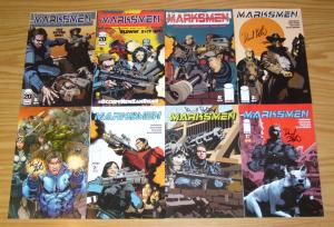 Marksmen #1-6 VF/NM complete series + (2) signed variants -earth runs out of oil