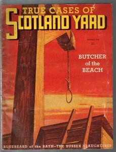 True Cases of Scotland Yard #1 1947-1st issue-terror-mystery-murder-noose-FN