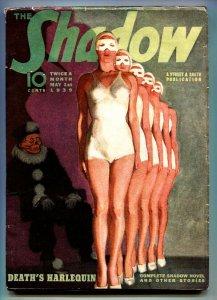 SHADOW 1938 May 1-high grade- STREET AND SMITH-RARE PULP vf