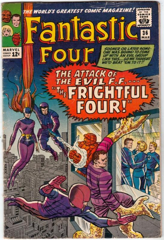 Fantastic Four #36 (Mar-65) VG+ Affordable-Grade Fantastic Four, Mr. Fantasti...