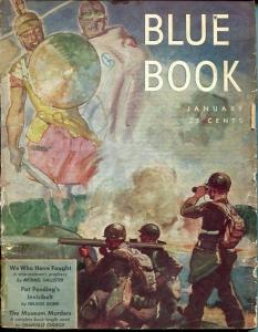 BLUE BOOK PULP-JAN 1944-VG-STOOPS COVER-BEDFORD-JONES-NELSON BOND-MAGEEE VG