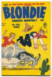 Blondie Comics #24 1950-cactus cover VG/F
