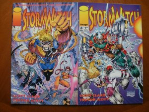 2 Near-Mint Image STORMWATCH #2 #3 (1993) Cannon Fahrenheit Choi Lee Clark Scott