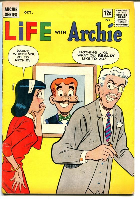 Life With Archie #23 1963-MLJ-Betty-Veronica-funny cover-FN