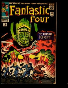 Fantastic Four # 49 FN Marvel Comic Book Silver Surfer Galactus Thing Doom NE3