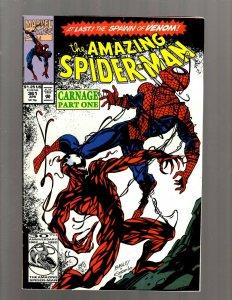 The Amazing Spider-Man # 361 FN/VF Marvel Comic Book Goblin Carnage Venom J450