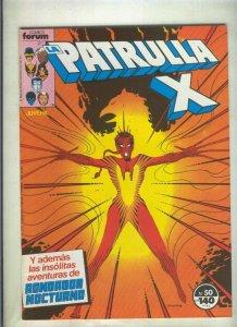 La Patrulla X volumen 1 numero 050: Sendero en espiral (numerado 1 en trasera)
