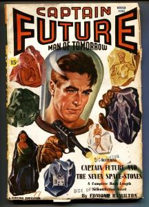 Captain Future Winter 1941-Earle Bergey Ray Gun cover-Pulp Magazine