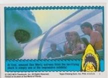 1983 Topps JAWS 3-D INVADING SEA WORLD! #34 EX