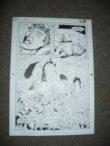 SUPERBOY #19 PAGE 9 ORIGINAL COMIC ART 1991-JIM MOONEY FN