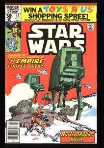Star Wars #40 NM- 9.2 Newsstand Variant 1st Rogue Squadron!