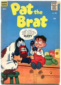 PAT THE BRAT #20 1957-ARCHIE COMICS  Cookie Jar G/VG