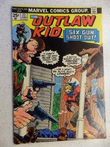 OUTLAW KID # 22 MARVEL BRONZE WESTERN ACTION ADVENTURE GUN VG