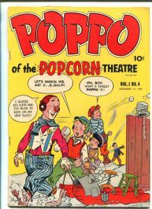 POPPO OF THE POPCORN THEATRE #4 1955-FULLER PUB-WACKY-CHARLES BIRO-RARE-good