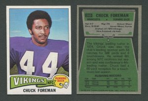 1975 Topps Football /  Chuck Foreman #240 /  NM-MT