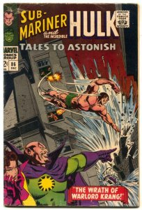 Tales To Astonish #86 1966- Hulk- Sub-mariner VG