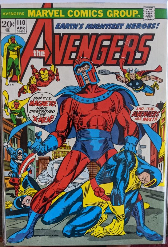 The Avengers #110 (1973) ICONIC MAGNET COVER