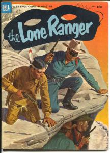 The Lone Ranger #59 1953-Dell-Blue Shirt issue-Tonto Silver-VF
