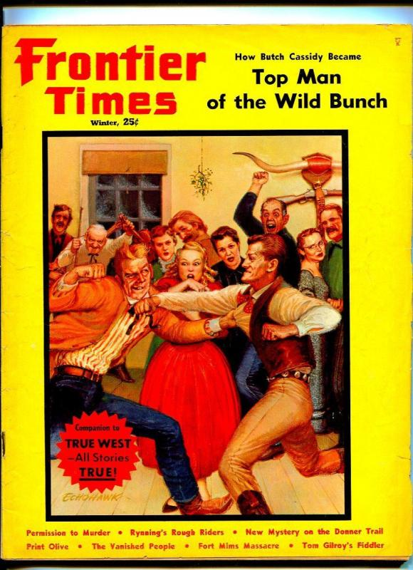 FRONTIER TIMES WINTER 1960-WESTERN PUBLISHING-BUTCH CASSIDY-VG+