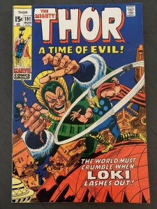 The Mighty THOR #191 LOKI A Time Of Evil (1971, Marvel)