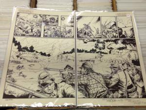 Tom Lyle Tim Truman 2 page centerfold spread Civil War  4Winds Publishing