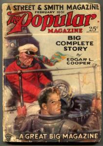 Popular Magazine Pulp February 1931- Edgar Cooper