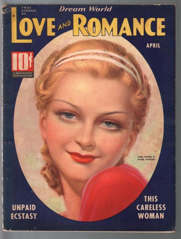 Dream World Love and Romance 4/1937-Tchetchet-spicy exploitation-FN