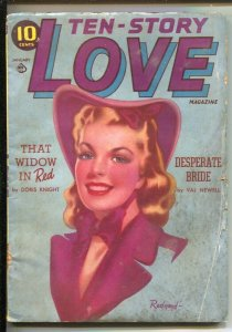 Ten-Story Love 1/1941Pin-Up Girl portrait cover by Alex  Raymond-pre WWII pul...