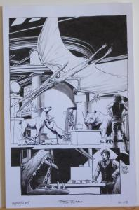 TIMOTHY TRUMAN original art, HAWKEN #5, Pg #22, Dinosaur, Museum, 11x17, 2011