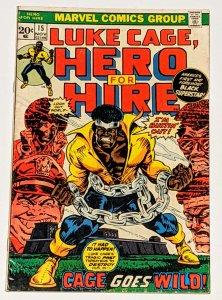 Hero for Hire #15 (Nov 1973, Marvel) Luke Cage  VG+ 4.5