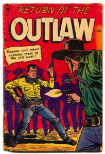 Return Of The Outlaw #4 1954- Billy the Kid- Golden Age Western G
