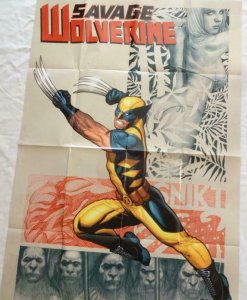 SAVAGE WOLVERINE Promo Poster, 24 x 36, 2012 MARVEL Unused more in our store 278