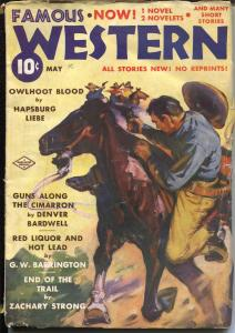 Famous Western 5/1938-Double Action-Tucson Kid-violent western pulp-VG/FN