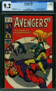 THE AVENGERS #59 CGC Graded 9.2 1st Appearance of Yellow Jacket