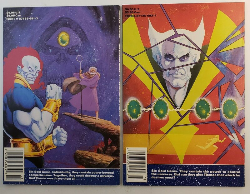 The Thanos Quest #1 & 2 VF+ 1st Print 1990 Marvel Comics Jim Starlin Ron Lim