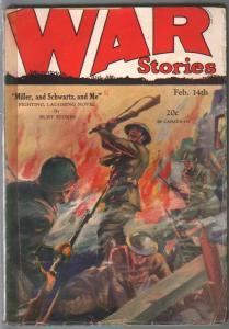 War Stories 2/14/1929-Dell-pulp war thrills-hand to hand combat-VG-