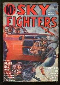 SKY FIGHTERS 7/1940-AIR WAR PULP-THRILLS-fn/vf