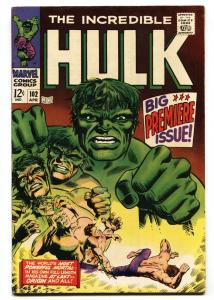 INCREDIBLE HULK #102 1967 FIRST ISSUE KEY SILVER-AGE MARVEL- VF-