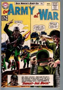 OUR ARMY AT WAR #124 1962-DC WAR COMIC-SGT. ROCK-GREY TONE COVER-VF+ VF+