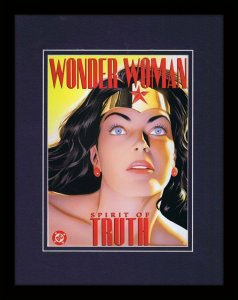 Wonder Woman Spirit of Truth Framed 11x14 Repro Cover Display DC Comics