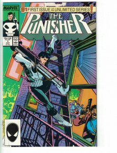the Punisher vol. 2 #1 VG unlimited series - marvel copper age comic book 1987