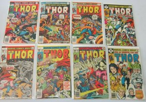 Thor comic lot from:#252-299 43 difference avg 5.0 range 4.0-6.0 (1976-80)