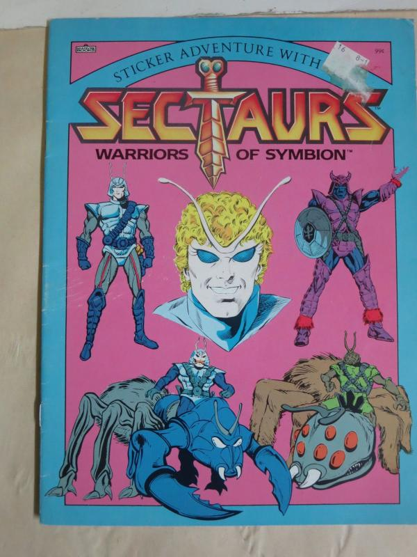 Sectaurs- Warriors of Symbion Sticker Adventure Coloring Book (1985) Coleco Toys