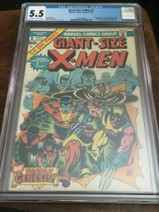 GIANT SIZE X-MEN #1 - CGC 5.5 FN- 1ST APP NEW X-MEN - BRONZE AGE BLUE CHIP KEY