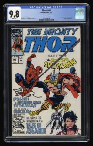 Thor #448 CGC NM/M 9.8 White Pages Amazing Spider-Man!